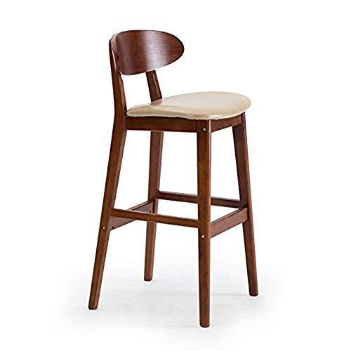 Barkruk voor ontbijt, barkruk met zachte kussens van leer. Tafelkruk van natuurlijk hout, brede pedalen voor kruk, huis, keuken, café. Kameel