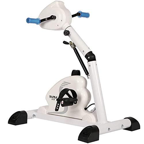 JFFFFWI Máquina de Pedal eléctrica Bicicleta de rehabilitación Entrenador de Entrenamiento Bicicleta de Pedal estacionaria para piernas y Brazos con Monitor LED F-Bike