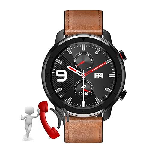 BNMY Smartwatch, Orologio Fitness Uomo Donna Activity Tracker, Bluetooth Chiamata, Cardiofrequenzimetro da Polso,Impermeabile IP68,Notifiche Messaggi per Android iOS,C