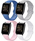 AK 4er-Set Kompatible für Apple Watch Armband 38mm 42mm 40mm 44mm, Weiche Silikon Ersatz Armband...