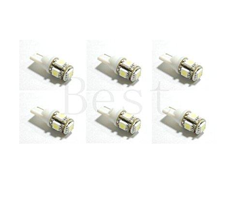 Best to Buy (6-PACK) COOL WHITE Bulb T5 Wedge 1W 360Deg LEDs for Malibu 12V AC Landscape