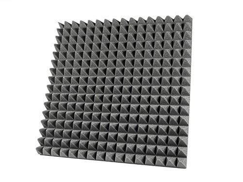 6(ud) Paneles de Espuma Acustica Piramidal. Medidas 595 x 595 x 50 mm. EliAcoustic Piramidal 50 para insonorizacion