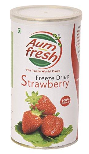Aum Fresh Gefriergetrocknete Erdbeere Organische USDA zertifiziert - 25 g / 0,8 Unze