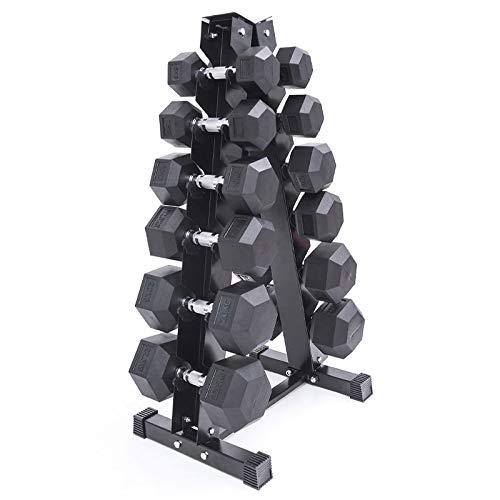 Joseph Manubri esagonali gommati da uomo in palestra studio dedicato placcatura manubri uomini e donne sollevamento pesi, 15 kg