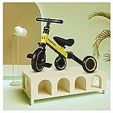 tquuquu Bicicleta de Equilibrio para niños, Bicicleta Plegable Multifuncional Dos en uno neumático no neumático Triciclo 1-6 años Scooter para Montar yo-yo Coche niño Scooter