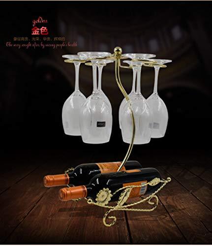 PatTheBot Wijnfles Houder Stand Rack, Iron Art Gouden Zonnebloem Boot Glas Hanger Ontwerp, Nieuwigheid Quirky Vintage Rustieke Metalen Decoratieve Ornamenten Voor Moderne Home Bar Keuken Tafel