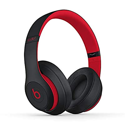 Beats Studio3 Wireless Noise Cancelling Over-Ear Headphones - Apple W1 Headphone Chip, Class 1 Bluetooth, Active Noise Cancelling, 22 Hours Of Listening Time - Defiant Black-Red by Apple Computer