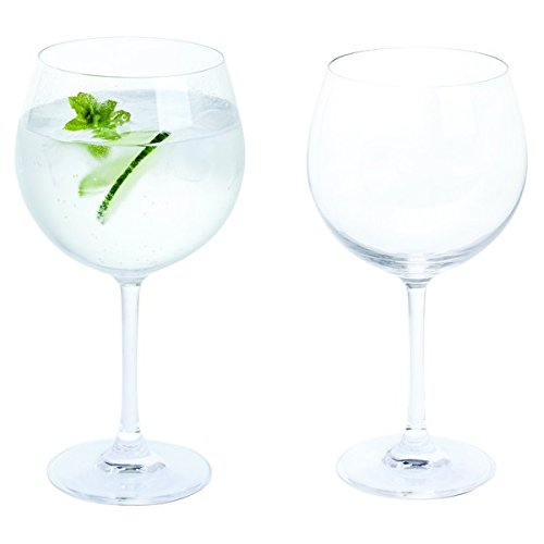 Bar Amigos® Everyday Classic Essentials Copa Verres à Gin & Tonic | G&T Cup Large Stemmed Balloon Cocktail Glasses | Cristal sans Plomb | Lave-Vaisselle | 650ml - Lot de 2