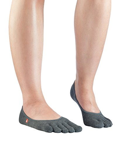 Knitido Zero Zehensocken Füßlinge, dünne Coolmax Socken für Aktive, Slipper Socken, Damen und Herren, Größe:39-42, Farbe:Anthrazit (642)
