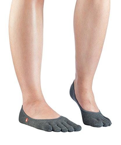 Knitido Zero Zehensocken Füßlinge, dünne Coolmax Socken für Aktive, Slipper Socken, Damen und Herren, Größe:39-42, Farbe:Anthrazit