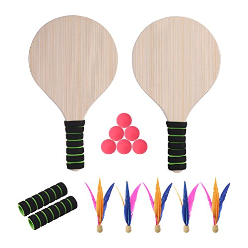 BESPORTBLE Wasserball Sets Paddle Ball Spiel Strand Tennis Pingpong Cricket Badminton Schläger Paddel Set für Kinder Erwachsene Indoor Outdoor