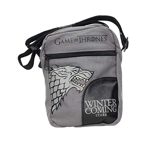 Juego de Tronos Bolso Stark Small Fabric Messenger Bag Game of Thrones Official Merchandising Bandolera Tiempo Libre y Sportwear, Adultos Unisex, Multicolor (Multicolor), Talla Única
