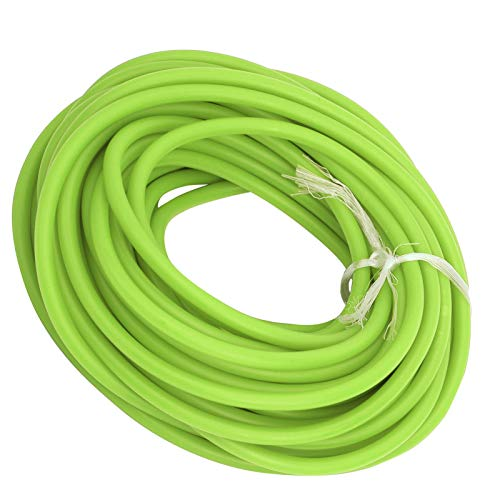 Natural Latex Slingshots Rubber Tube, 32.8ft Latex Tube Elastic Band Rope 1.7mm ID/4.5mm OD, Tube Hose Accessories for Slingshot Catapult Outdoor Hunting Fitness(green)