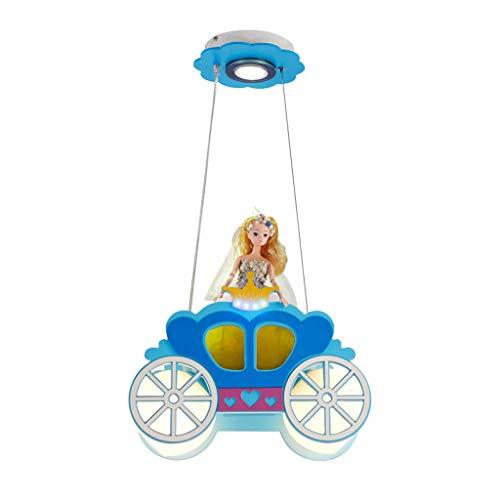 Kroonluchter binnenverlichting prinseswagen studie LED-ogen meisjes kamerlamp kleuterschool cartoon lamp E27 interface