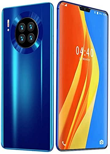 WWJ Celular, Mate 39 Smartphone Câmera traseira Quad Dual SIM telefones Android grátis, com 4800mAh Big Battery 6,7 polegadas FHD Display 8GB RAM + 521G ROM desbloqueio de impressão Digital, F