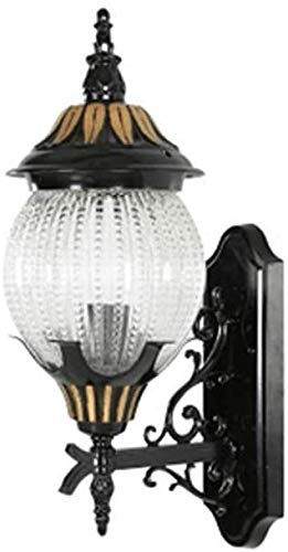 XWZH Europea lámpara pasillo luces al aire libre pared luz retro lámpara puerta balcón pared luces al aire libre impermeable luz de la villa luces