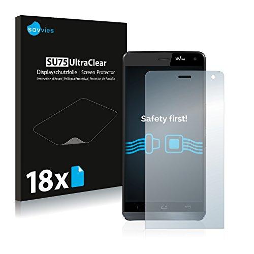 Savvies 18x Schutzfolie kompatibel mit Wiko Getaway Bildschirmschutz-Folie Ultra-transparent