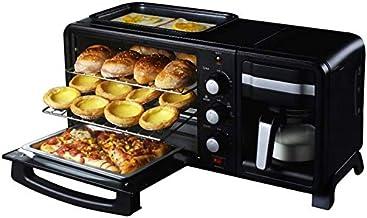 3 máquina de café cocina de cocina de desayuno In1Toaster huevo de huevo con el mini horno horno pequeño compacto horno de acero inoxidable 13L malla con la sincronización 60min / huevos