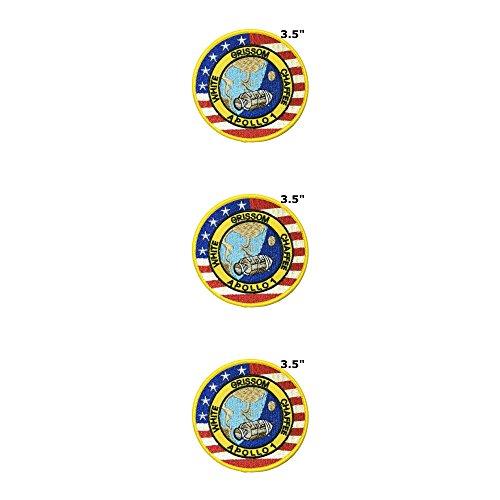 Application X-Files NASA Space Programme classique Apollo 1 Cosplay badge brodée fer ou Sewn-on Applique Patch 3-pack Ensemble cadeau