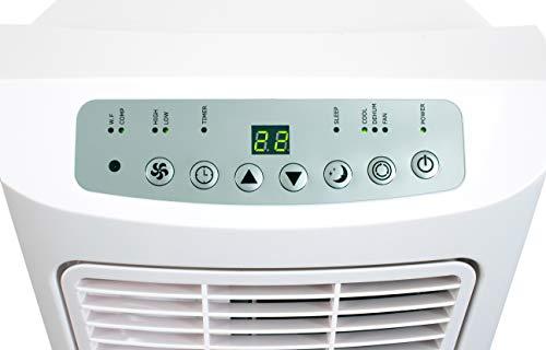 SUNTEC condizionatore mobile locale IMPULS 2.6+ [3 in 1: per ambienti fino a 60 m³ (~25 m²), raffreddamento, deumidificazione, ventilazione, 7.000 BTU/h, EEK A] [Classe di efficienza energetica A]