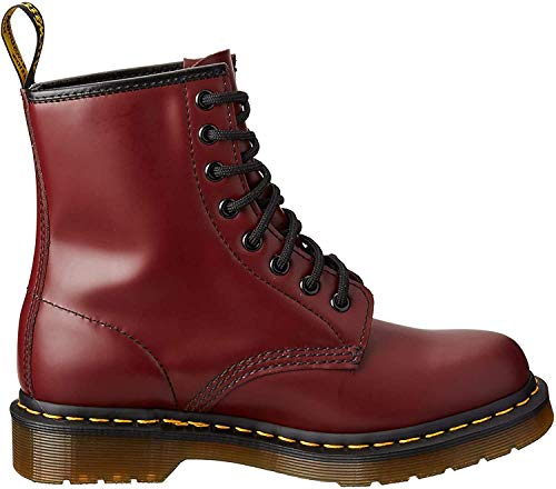 Dr. Marten's Women's 1460 8-Eye Patent Leather Boots, Cherry Red Rouge Smooth, 8 F(M) UK / 10 B(M) US Women / 9 D(M) US Men