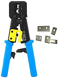 RJ45 Crimp Tool EZ Pass Through Ethernet Crimper Heavy Duty Crimping Tool for Legacy Internet Connectors