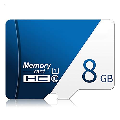 Micro SD Card, Tarjeta Micro SD Clase 10 De Alta Velocidad para Dash CAM, hasta 80 MB/S 10-SDXC TF Tarjeta De Memoria Flash, para La Cámara/Smart Watch/Tablets,8GB