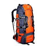 Mochila de 50/80L , ideal para deportes al aire libre, Senderismo, Trekking, Camping Travel, Escalada. Bolso impermeable del alpinismo, Daypacks que suben del recorrido, mochila (80L Naranja, 80L)