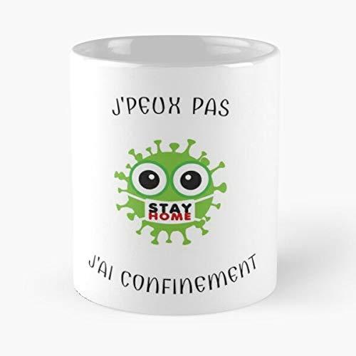 at Womens Stay Containment Home I Funny Cant Trends Man Humor Best Taza de café de cerámica de 11 onzas
