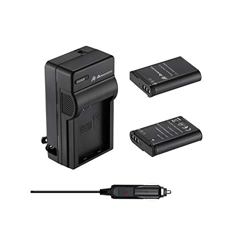 Powerextra EN-EL23 Battery and Quick Charger with Car Charger Compatible with Nikon EN-EL23 Battery and Nikon Coolpix P600 P610 B700 P900 S810c Cameras