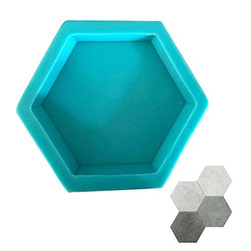Lembeauty Moule en silicone pour décoration de mur en brique ou béton - Motif géométrique - Pour mur en pierre, carrelage hexagonal - Pour décoration de fond de télévision
