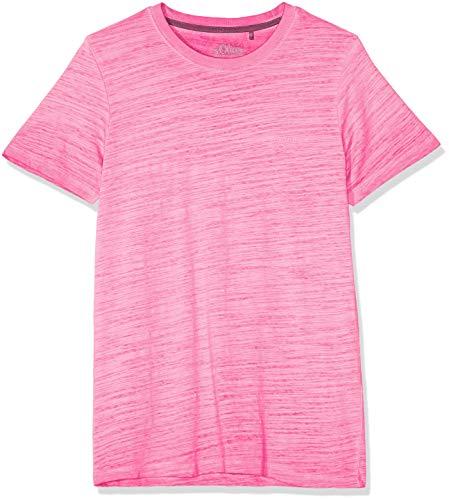 s.Oliver Herren 03.899.32.4584 T-Shirt, Rosa (Neon Pink 0064), Small (Herstellergröße: S)