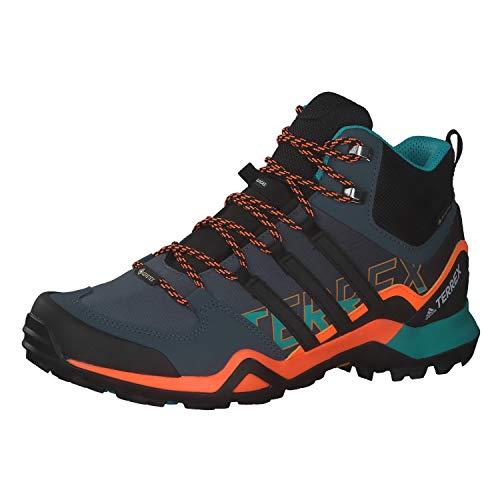 adidas Herren Terrex Swift R2 Mid Gore-TEX Walking Shoe, Legacy Blue/Core Black/Signal Orange, 43 1/3 EU