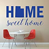 Home Sweet Home State of Utah Silhouette Vinyl Wall Art Decal for The Living Dining Family Room 19.7' x 26' Art Mural