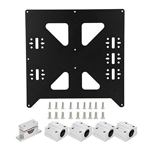Steunplaat voor 3D-printer, aluminium 3 mm Y-frame geanodiseerde plaat met SC8UU P8 lineaire technologie kogellager, riemmontageblok voor Prusa I3 RepRap MK1 / 2 / A/B warmbed