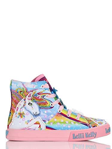 Lelli Kelly Unicorn Mid - Zapatillas de niña multicolor LK9090 Rosa Size: 35 EU