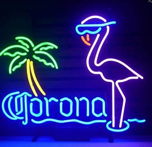 Neón Luz Lámpara Signo De Neón Coron Extra Rosa Flamingo Neón Luz Signo Hecho A Mano Real Glass Tubes Personalizado Retro