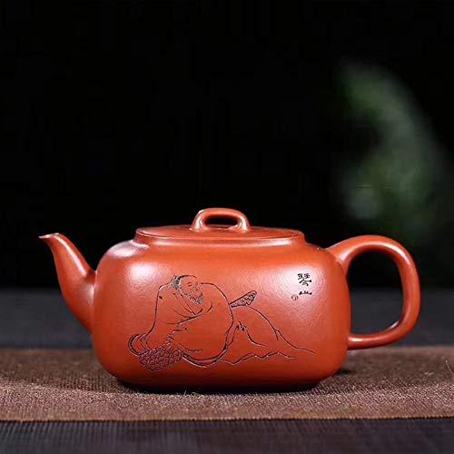 Tea Maker Pot Big Red Four Fangjun Yu Yixing Teapot Famous Handmade Teapot Travel Tea LYFTLKJ (Color : Big pink pouch, Size : One Size)