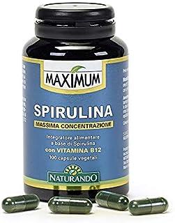 Naturando Srl Espirulina - 100 Cápsulas Vegetales - Complemento Alimenticio Natural Con Muy Alta Concentración
