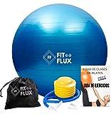 FITFLUX Pelota de Pilates, Yoga, Fitness, Ejercicio, Embarazo, Equilibrio. Fitball para Gimnasia....