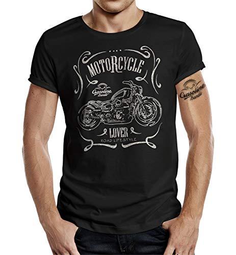 Gasoline Bandit Biker Racer Motorcycle Lover T-shirt - Noir - Large