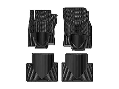 WeatherTech All-Weather Floor Mats for Nissan Rogue - 1st & 2nd Row (Black)