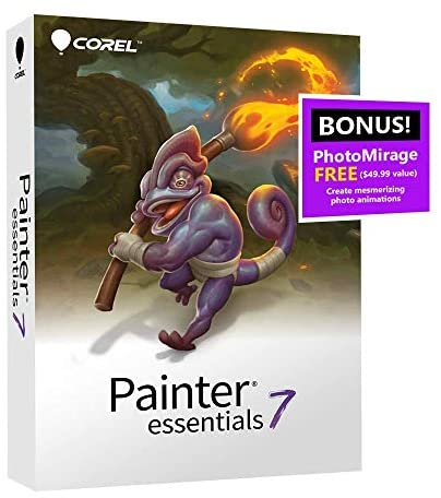 Corel Painter Essentials 7 Digital Art Suite Amazon Exclusive Includes Free PhotoMirage Express product image