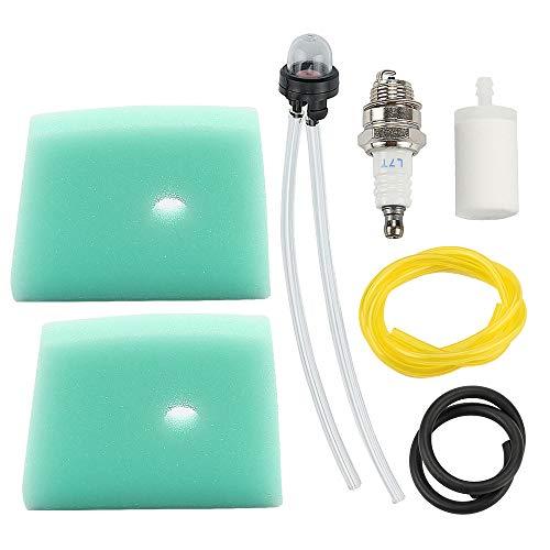 Mckin 537186301 Air Filter + Fuel Filter Line Spark Plug fits Husqvarna 123L 223L 322C 322L 322R 323C 323L 323LD 325L 326L 326LX 326LS Trimmer Weed Eater Parts