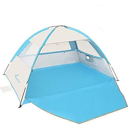 Venustas Beach Tent Beach Umbrella Outdoor Sun Shelter Canopy Cabana UPF 50+ Sun Shade Easy Set Up...