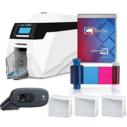 Magicard Rio Pro 360 Dual Sided ID Card Printer & Complete Supplies Package with Bodno Silver Edition ID Software