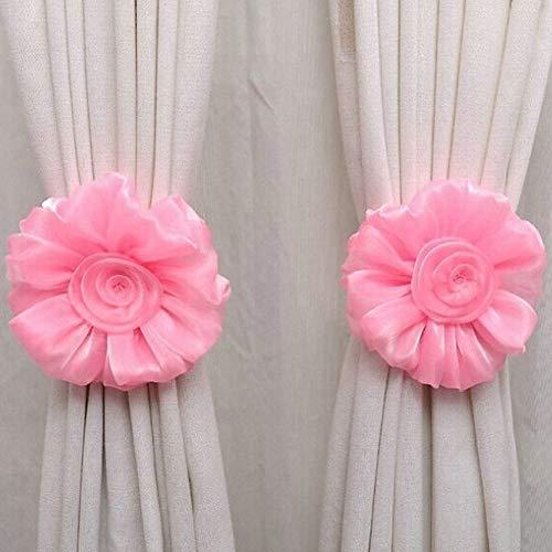 Eastery Raffhouder, roze, 1 paar, geel, mediterrane stijl, rustiek design, eenvoudige stijl, ornament, gordijnen, montagetoebehoren Size Roze