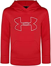 Under Armour Boys' Little Big Logo Hoodie, Red/White H19, 6