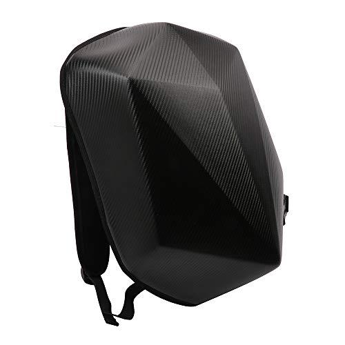 Zaino da moto con guscio rigido, a forma di diamante, in fibra di carbonio, impermeabile, 30 l, grande capacità, zaino da equitazione, per viaggi all'aperto, campeggio, ciclismo