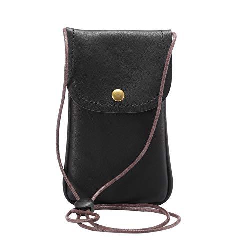 GUOQING Clips de cinturón de teléfono pequeña bolsa cruzada para mujer, bolsa de viaje para teléfono iPhone Xs Max, 11 Pro Max, Xs, X, 8 Plus, 7 Plus, 6 Plus (color negro).